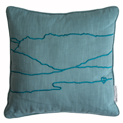 Great Gable & The Langdales Embroidered Cushion