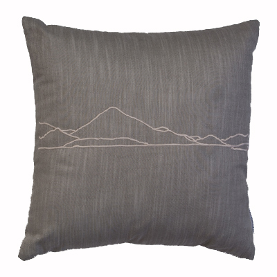 Grey Crummock Water cushion cover