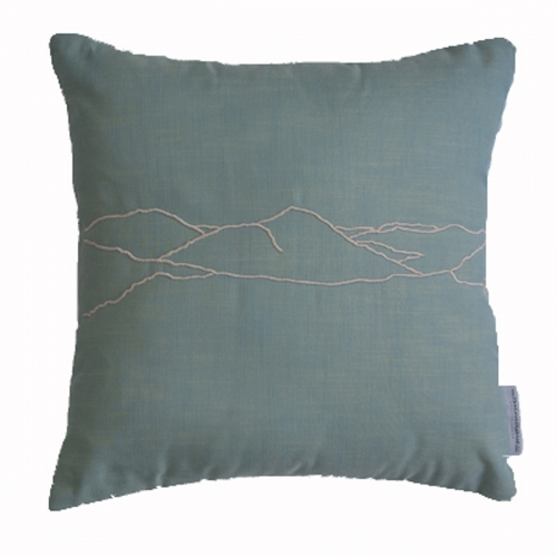 haystacks lake district inspired cushion