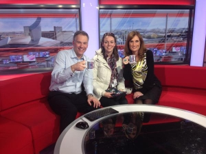 Alison Tordoff visits BBC Tonight set